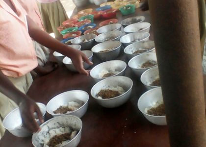 We've now started the Feeding programme for all the school children